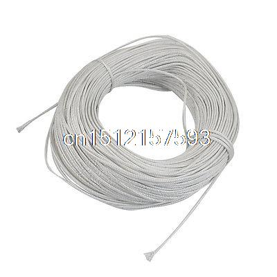 100 Meters White Plastic Braided Thermocouple Extension Wire100 Meters White Plastic Braided Thermocouple Extension Wire