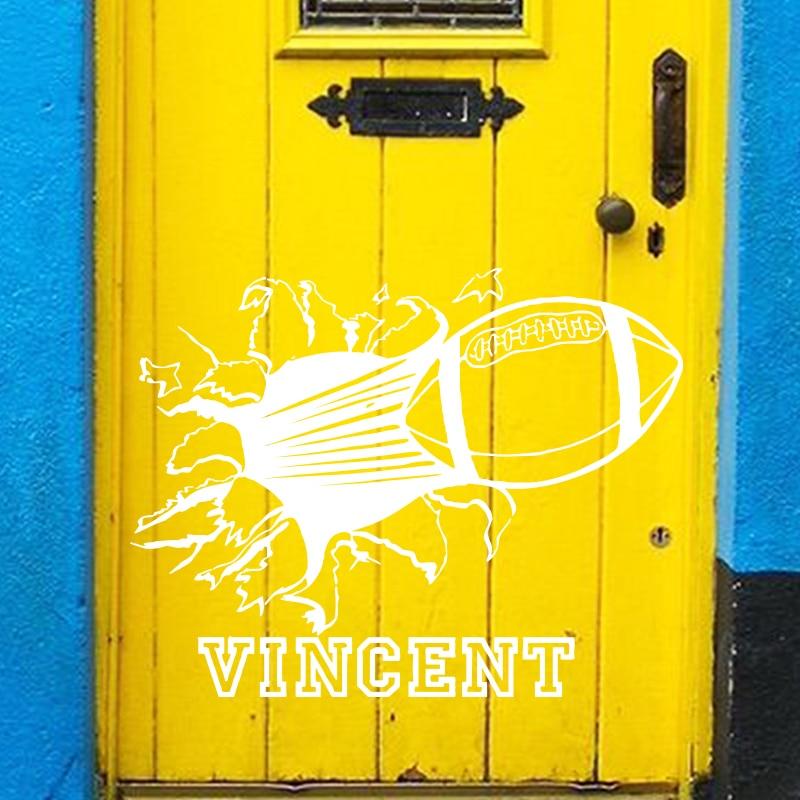 Konst modedesign heminredning namn citat vinyl Rugby fotboll vägg - Heminredning - Foto 6