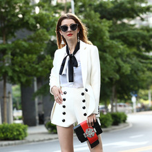 Business Suit Pants Suit European And American Short Coat Two-Piece Female High-End Big Yards Cultivate Morality