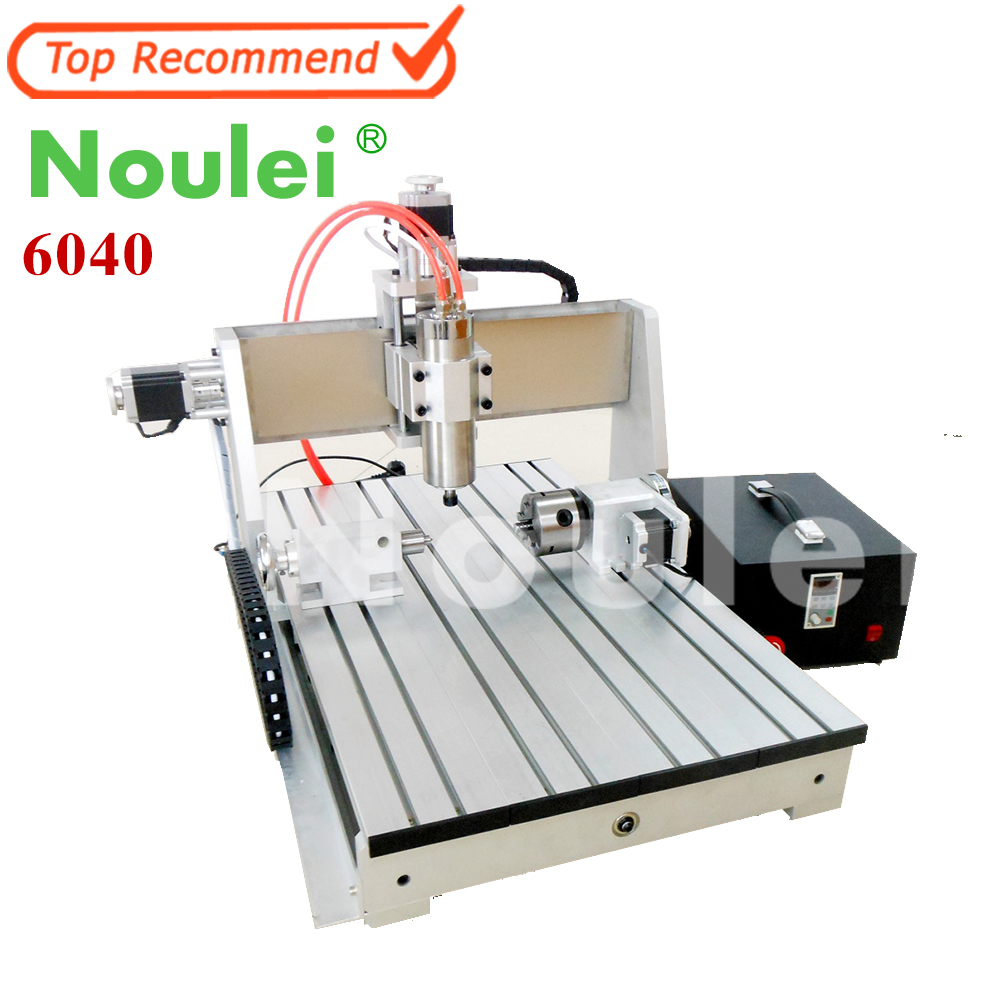 1.5KW 1500W Four-axis CNC Router Engraver Engraving Milling Drilling Cutting Machine CNC 6040 3d cnc router cnc 6040 1500w engraving drilling milling machine cnc cutting machine 110 220v