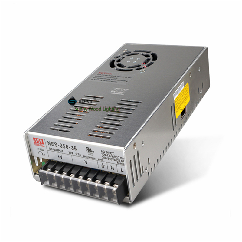 100-240Vac to 36VDC ,350W ,36V9.7A  UL Listed power supply ,Led light,led signboard driver ,NES-350-36 90w led driver dc40v 2 7a high power led driver for flood light street light ip65 constant current drive power supply