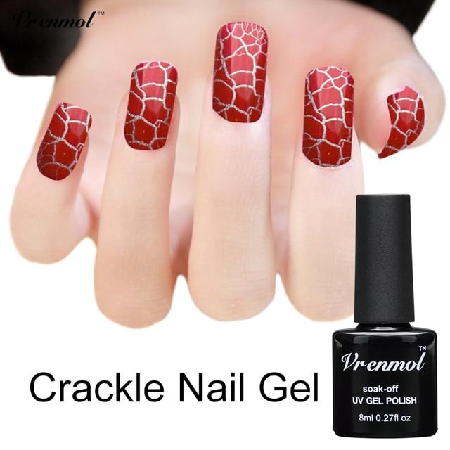 Vrenmol 1pcs Crackle Shatter Gel Nails Polish Professional Cracking ...
