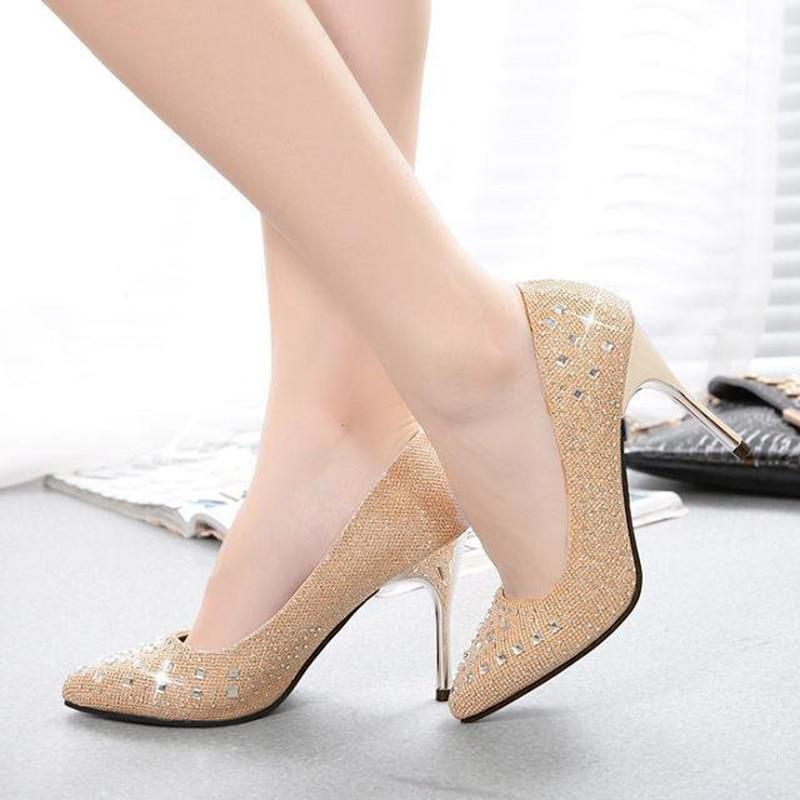 Women pumps high heels 2015 fashion pointed toe women