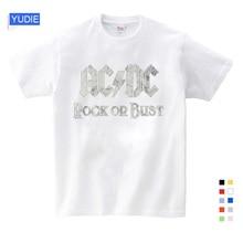 цена на Boy&Girl Print AC DC Band Rock T-shirt O-Neck Short T Shirt Acdc Graphic Heavy Metal Tops Tee Kids Baby T Shirt Fashion Novelty