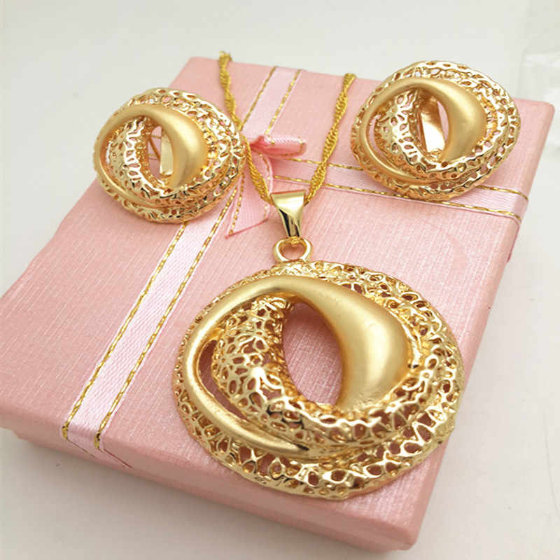 Jewelry Rmantic Unique Bridal Wedding Statement Jewelry Set For Women Birthday Gift Earrings Necklace Pendant Water Drop