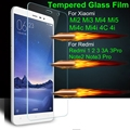 9H Tempered Glass Film For Xiaomi Mi3 Mi5 Mi4 Mi4C Mi4i Redmi 1S 3 3s 4 Note 2 3 4 Pro note2 note3 Prime SE Special Edition Case
