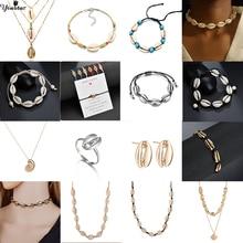 Yiustar Bohemian Cowrie Shells Pendant Bracelets Bangles for Women Fashion Ocean Sea Beach Boho Jewelry Wholesale
