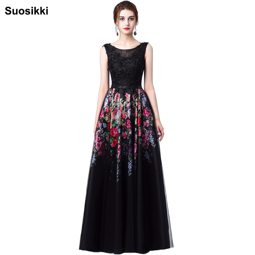 Suosikki Women Long Black Evening Dress Sexy Tank ... - photo#26