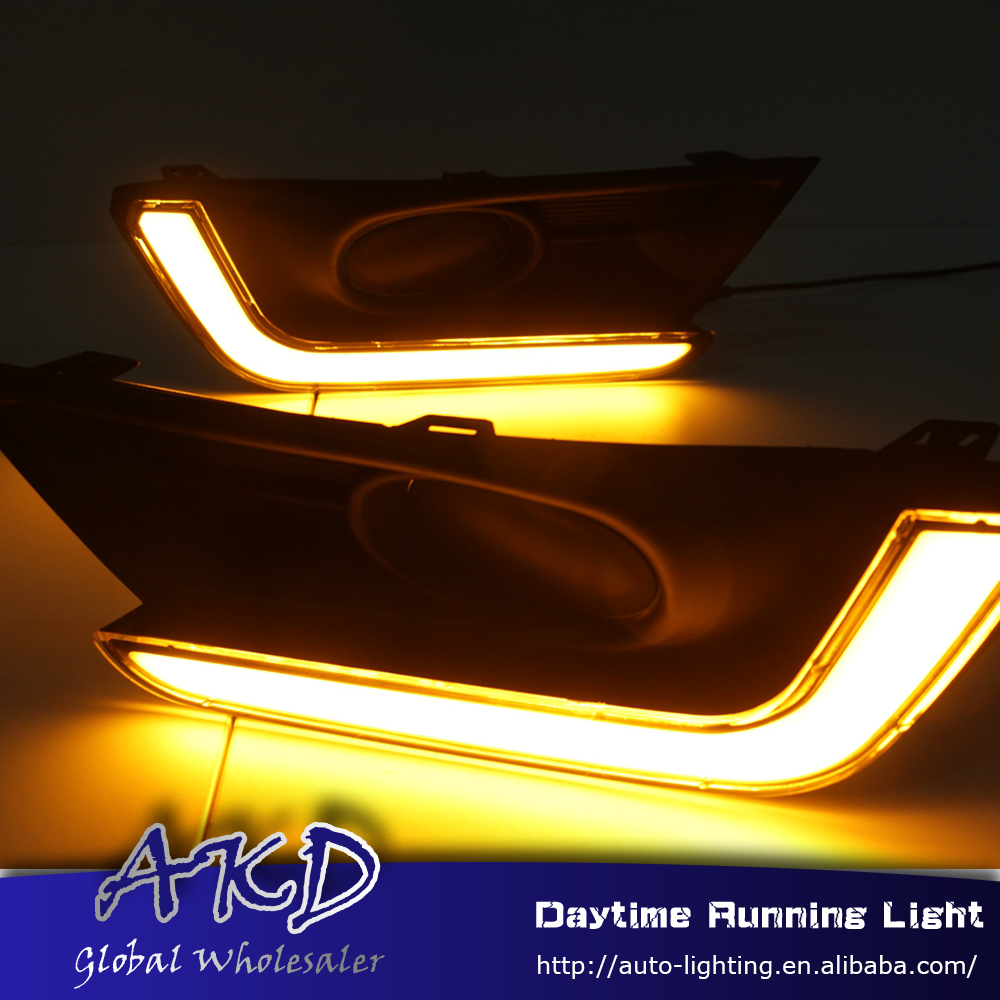 AKD Car Styling for Honda CR-V 2016-2017 LED DRL for New CR-V CRV Turning Led Drl Running Light Fog Light Parking Accessories akd car styling for kia sportage r drl 2014 new sportager led drl korea design led running light fog light parking accessories