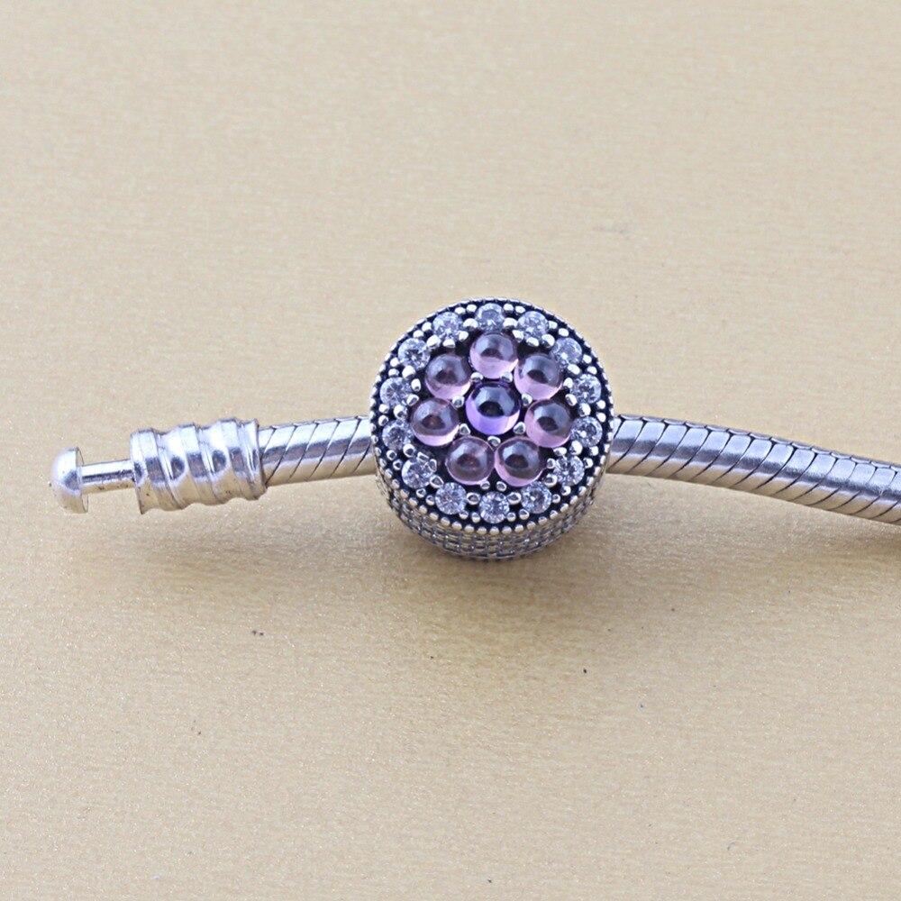 ZMZY Jewelry 925 Sterling Silver DAZZLING FLORAL CHARM Fits Pandora Charms Bracelets