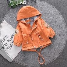 Новинка; пальто для маленьких девочек; коллекция года; модная детская куртка с цветочной вышивкой; Повседневная Верхняя одежда для новорожденных; весенние топы для девочек