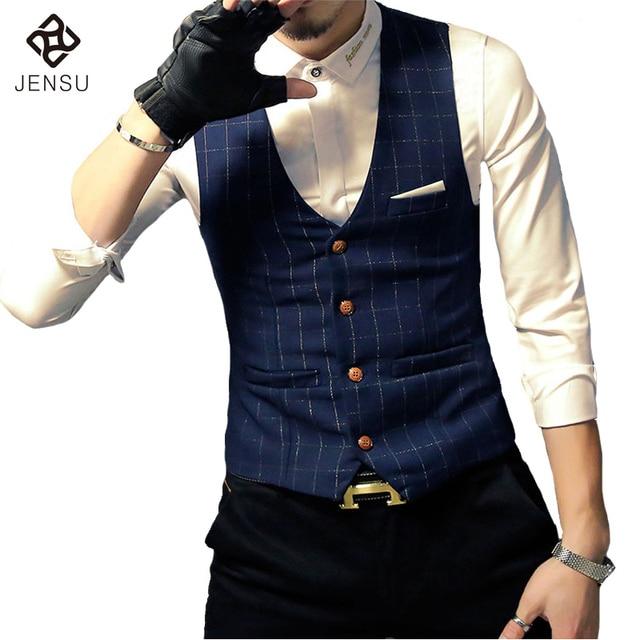 2016 Homens Se Vestem Terno Coletes Sem Mangas Blazers Jaquetas Hombre Veste De Loisir Herren Anzug dos homens Moda Casual Slim Fit Coletes homens