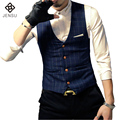 2016 Men Dress Suit Vests Sleeveless Blazers Jackets Hombre Veste De Loisir Herren Anzug Men's Casual Fashion Slim Fit Vests Men