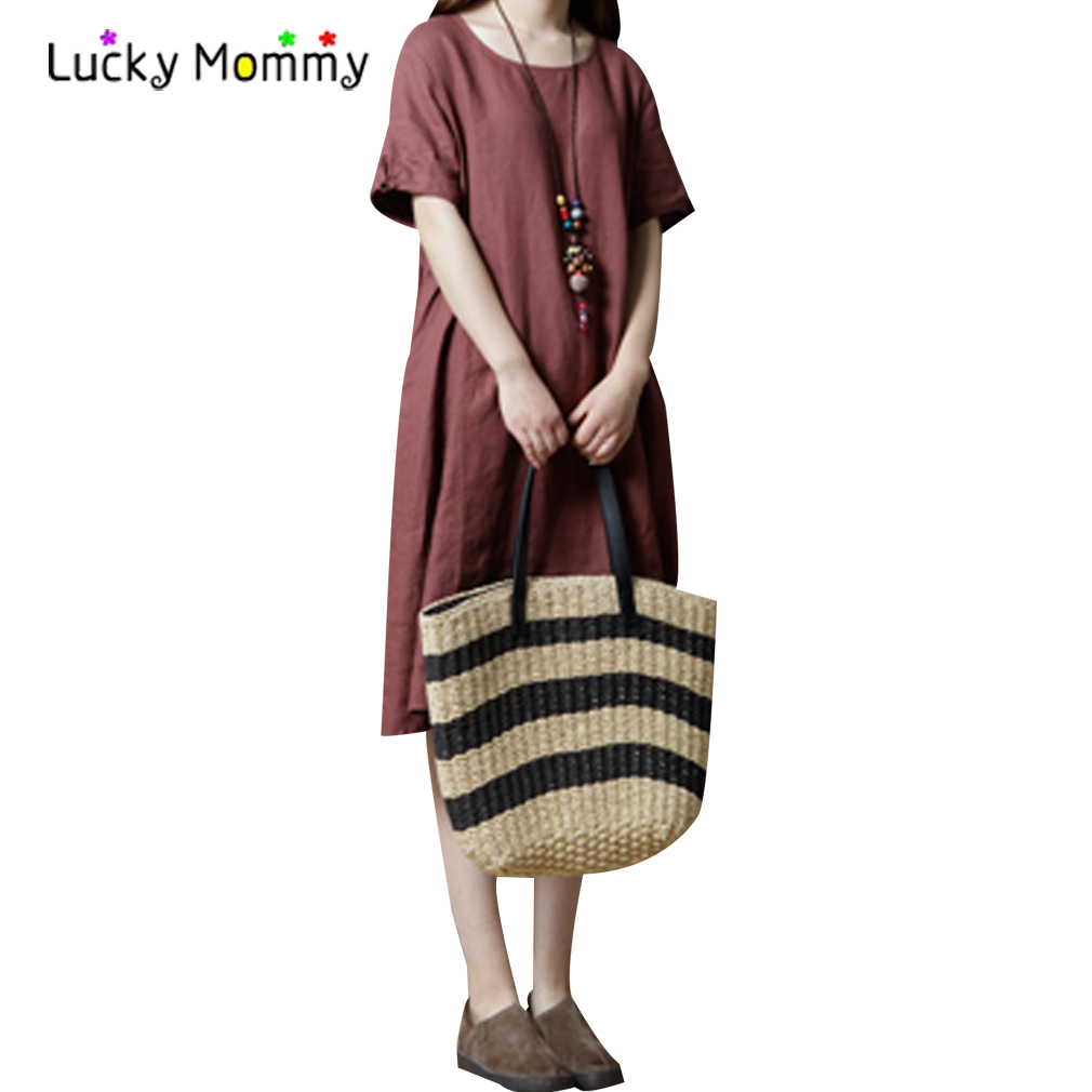 2017 Summer Linen Maternity Dress Bohemian Maternity Clothes Boho Pregnancy Clothing for Pregnant Women Loose Dress