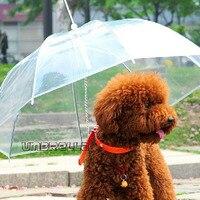 רך אופנה חמודה יפה נוח שקוף קישוט חיצוני מסעות טיולי גשם מטריית חיות מחמד גור כלב 25