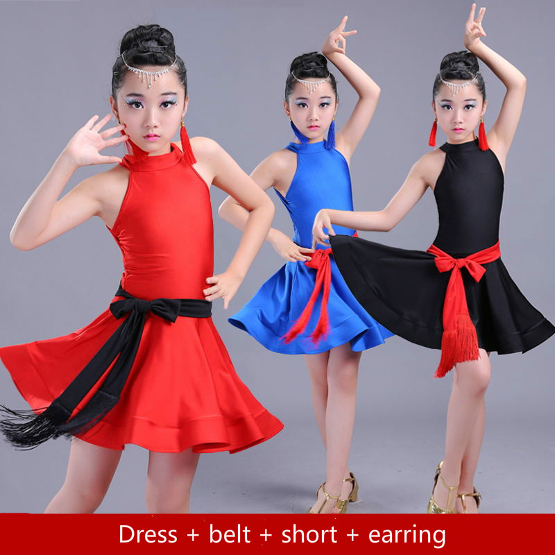 Latin Dance Dress For Girls Modern Dance Costumes Latin Dress Ballroom Dresses Tango/ramba Kids Latin Competition Dresses