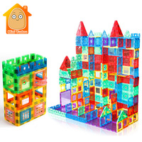 100PCS Big Size Transparente Magnetic Tiles Building Bricks Educational Toys Magnet Game For Children