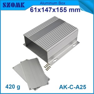 4 pcs/lot aluminum box for electronic project with surface heat dissipation easy in silver color 61(H)x147(W)x155(L) mm