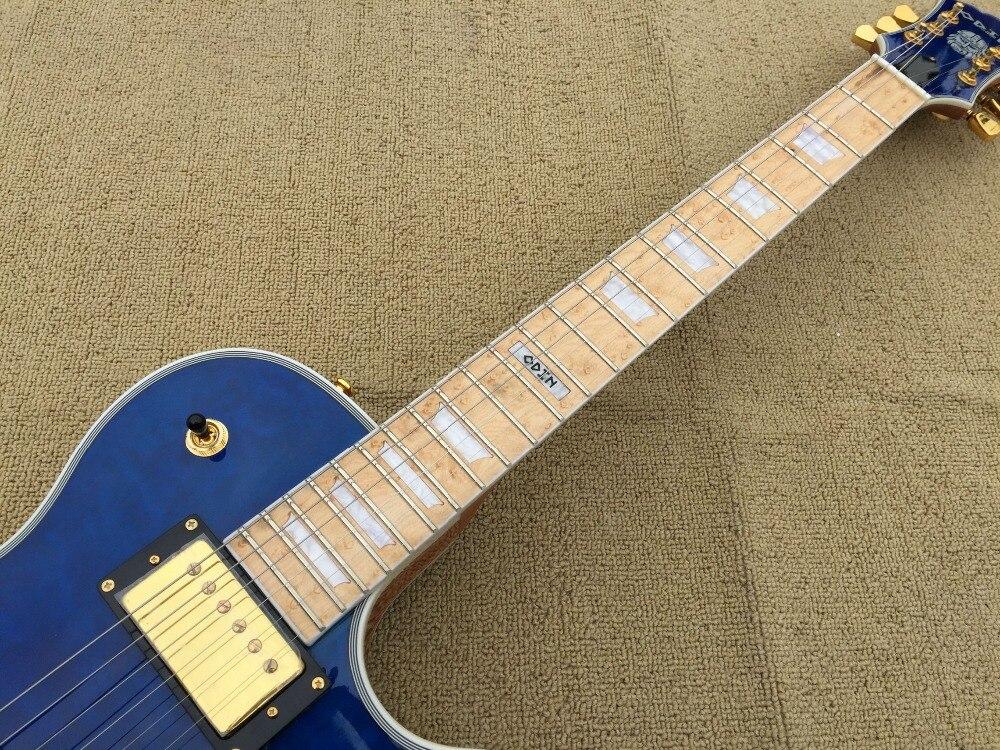 Estremamente Caldo! personalizzata chitarra elettrica LP tipo di mare di colore  QE59