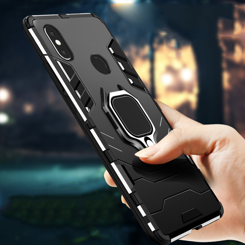 Armor Case For <font><b>Xiaomi</b></font> MIX 3 5G 2S <font><b>MAX3</b></font> CC9 <font><b>Pro</b></font> Coque Note 10 lite F2 <font><b>Pro</b></font> F1 Magnetic Stand Cover Redmi Note 9S K30 K20 8T 7 Case image