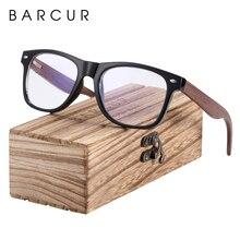 BARCUR Wood Anti Blue Ray Glasses Computer Optical Eye UV Blocking Gaming Filter Eyewear