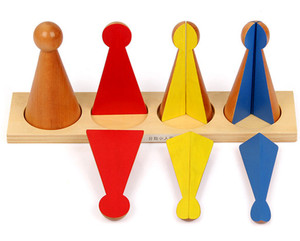 Baby Toys Montessori Fraction Puzzle Wooden Toys Educational Math Toy Early Learning Children Gift