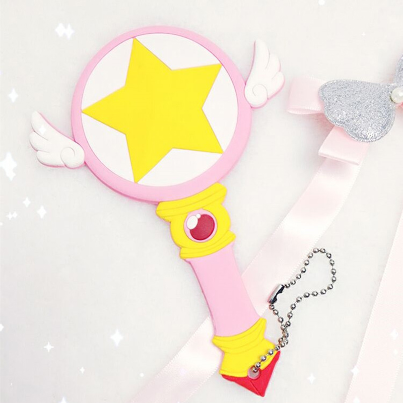 Japanese Anime Card Captor Kinomoto Sakura Star Stick Card Magic Girl Sakura Anime Cosplay Bird Head And Stars Cane Card Handbag Novelty & Special Use Costume Props