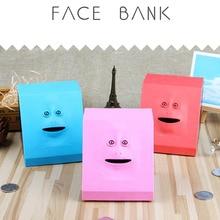 INBEAJY 1PCS Money Eating Box Cute Facebank Piggy Bank Coins Box Money Coin Saving Bank Novelty Antistress Birthday Toys