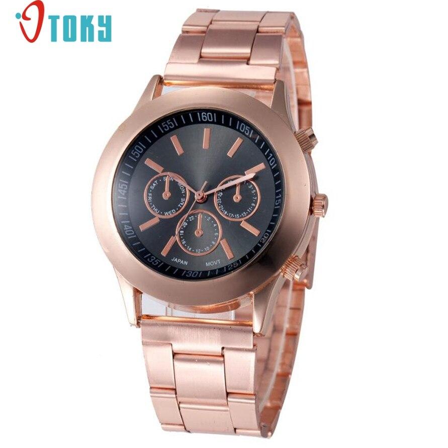 Relogio otoky willby женщи классический подарок часы розовое золото кварцевые наручные Часы 170306 Прямая доставка