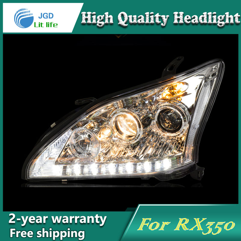Car Styling Head Lamp case for Lexus RX350 Headlights LED Headlight DRL Lens Double Beam Bi-Xenon HID car Accessories hireno headlamp for 2016 hyundai elantra headlight assembly led drl angel lens double beam hid xenon 2pcs