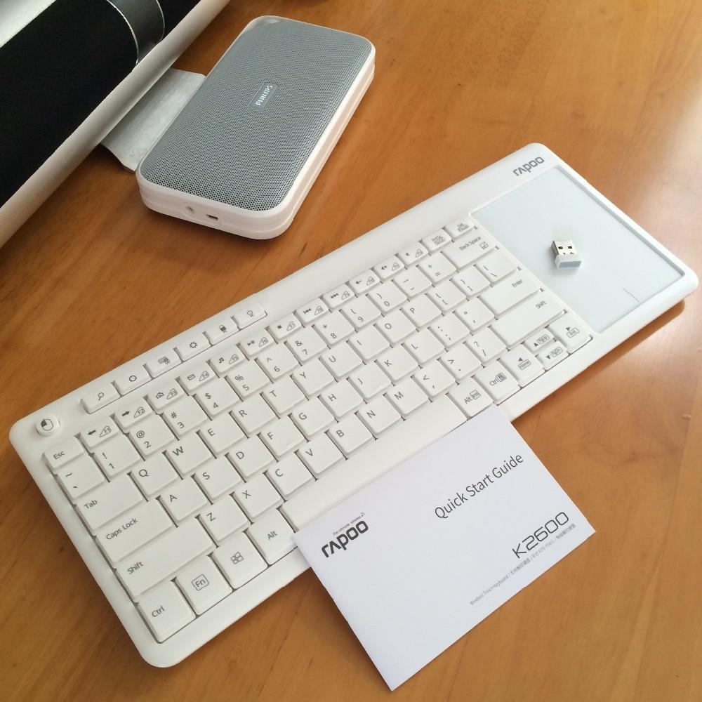 Rapoo K2600 2.4G անլար Touch ստեղնաշարի նիհար - Համակարգչային արտաքին սարքեր - Լուսանկար 4