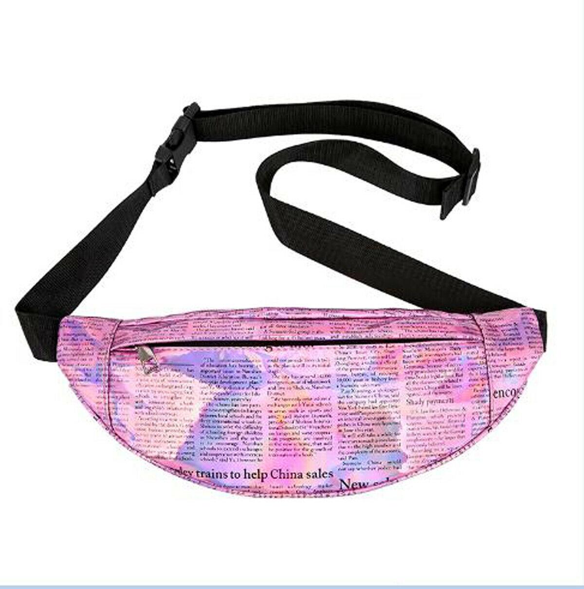 New PU Leather Fanny Pack Women's Hip Hop Waist Bag Fashion Letter Printing Portable Belt Bag Purse