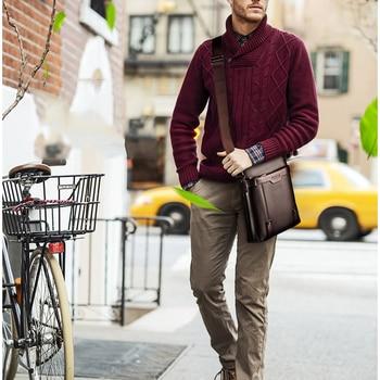 New Fashion PU Leather Men Messenger Casual Bag 8