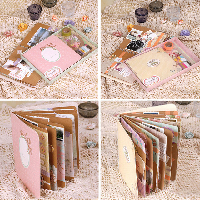 Memory Planner Handmade Spiral Bound Photo Scrapbook Album Kitdiy