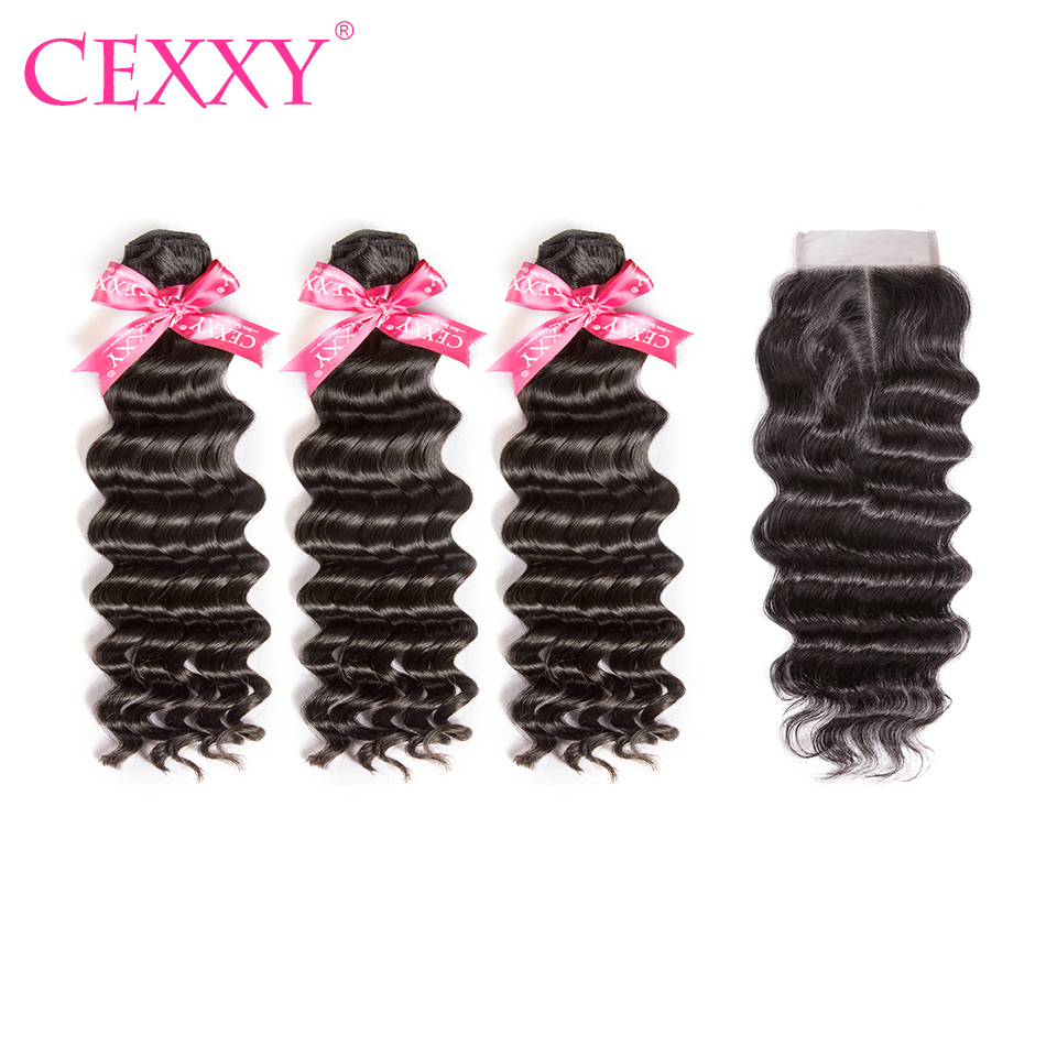 8a Cexxy Malaysian Hair Weave Bundles With Closure Human Hair Natural Wave Virgin Hair 4*4 Lace Closure Free Shipping To Enjoy High Reputation In The International Market Human Hair Weaves