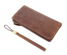 8048B J.M.D Classic Brown Men's Leather Clutch Bag Men Cowhide Leather Wallet  Only For You