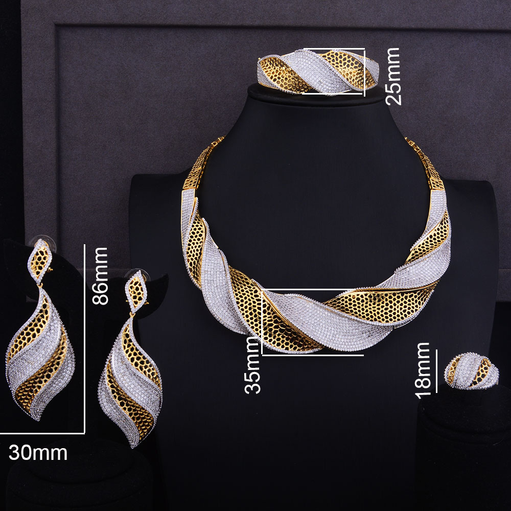 Luxury Twist Necklace Set  1