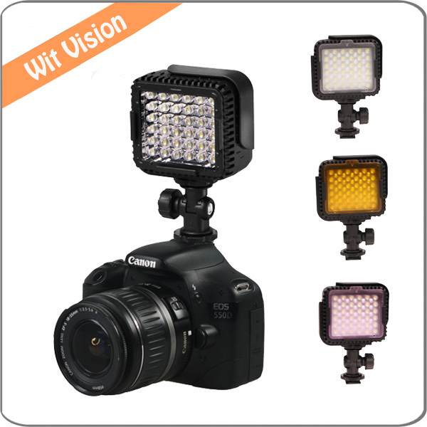Cn-lux360 36led on camera luce video led con built-up design per sony nikon canon fotocamera o videocamera