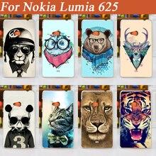 11 шаблоны Живопись Красочные животные, Дизайн Жесткий Чехол для Nokia Lumia 625 мобильного телефона задняя крышка Бесплатная доставка