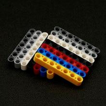 50 peças a granel liftarm da técnica dos tijolos dos pces 1x7 feixe grosso moc caminhão conector acessórios brinquedos para crianças blocos de construção 32524