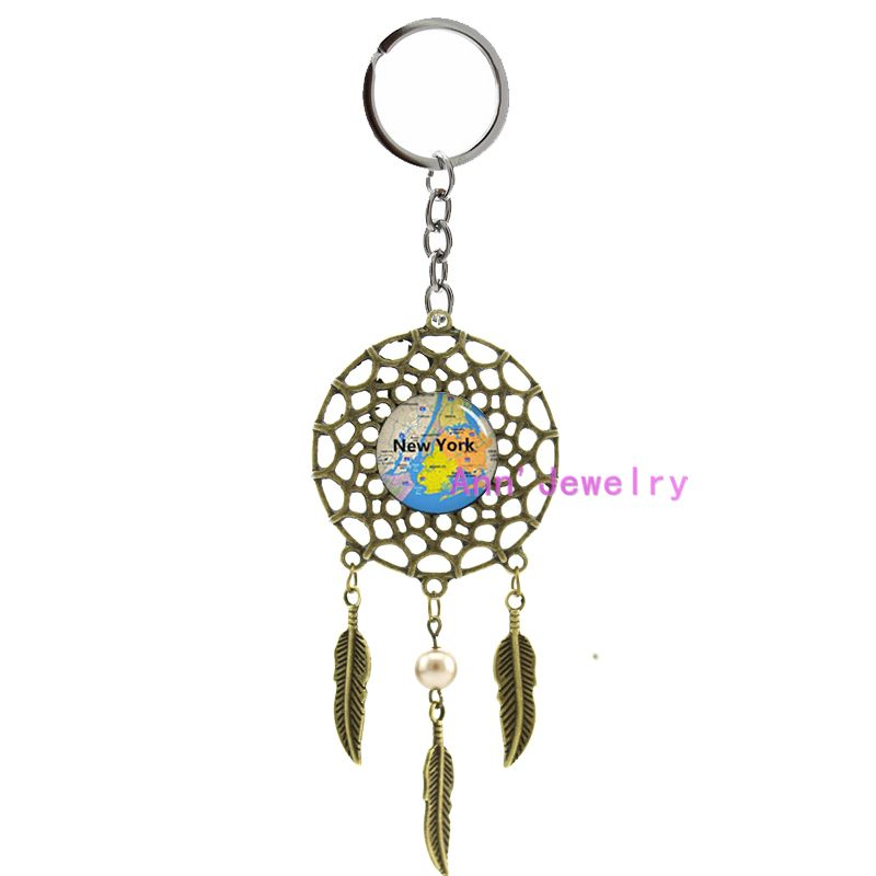 Where To Buy Dream Catchers In Nyc 40 new york keychain new york city map dream catcher nyc map 5