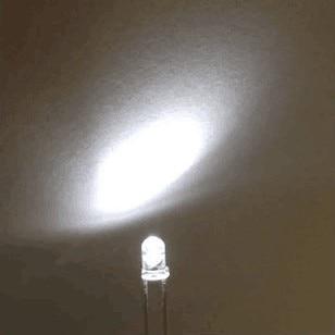 1000 Pcs 3MM WHITE LED Transparent Water Clear Round Led 3mm Cold White 3V Light Emitting Diode Lamp