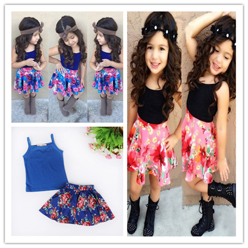 Aliexpress.com : Buy Adorable Summer Flower Casual Girls Clothes ...