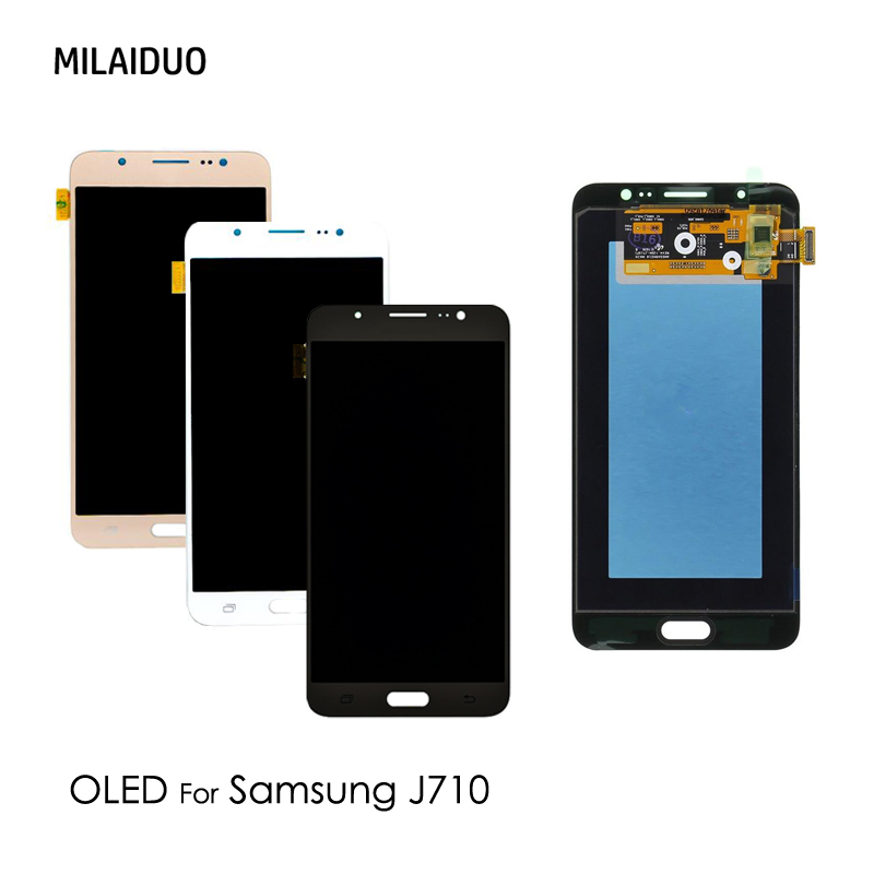 AMOLED For Samsung Galaxy J7 2016 J710 J710FN J710F J710M J710Y J710G J710H LCD Display OLED Touch Screen Digitizer Adjust