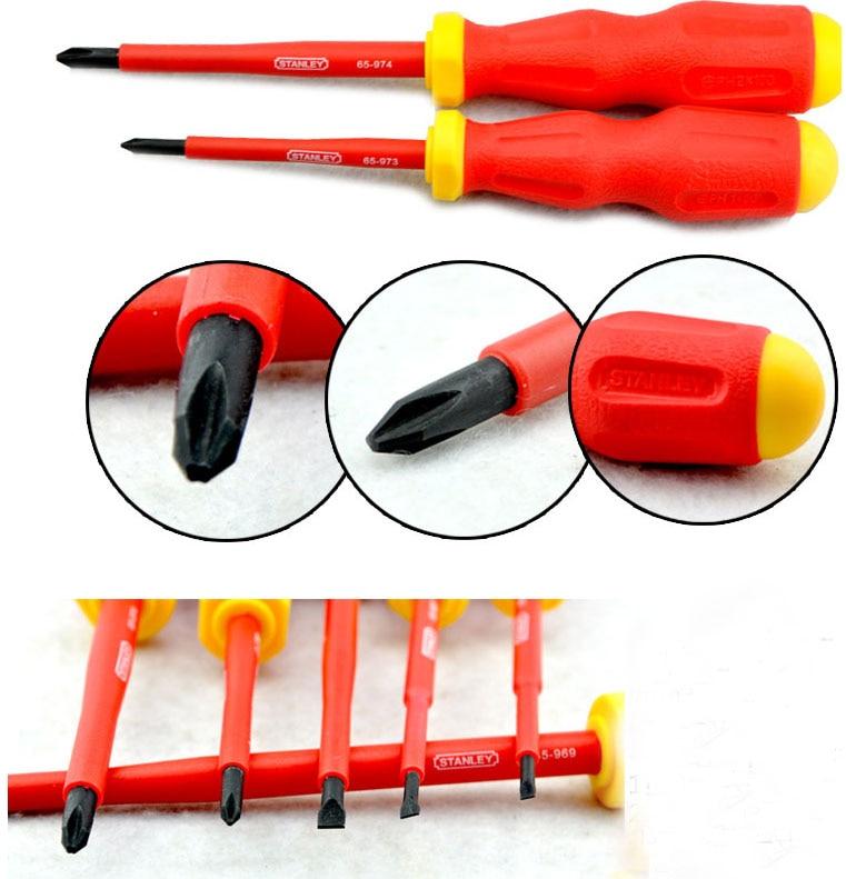 Stanley 65-980 kit set di cacciaviti isolati da 1000 V-volt in - Utensili manuali - Fotografia 4