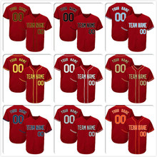 5b6db9bc7 Wholesale OEM DIY Custom Baseball Jersey Men Women Youth Button Down  Embroidered Name Number Design Your Own Team Logo Scarlet