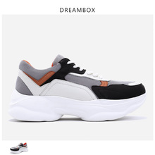 цена Fashion Sneaker Casual Shoes Spring New Thick Bottom Increased Outdoor Мужская обувь онлайн в 2017 году