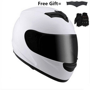 цена на new authentic High quality full face motorcycle helmet men racing moto helmets DOT capacete casqueiro casque with neckerchief
