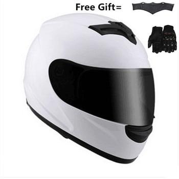 цена на new authentic High quality full face motorcycle helmet men racing moto helmets DOT capacete casqueiro casque with neckerchief