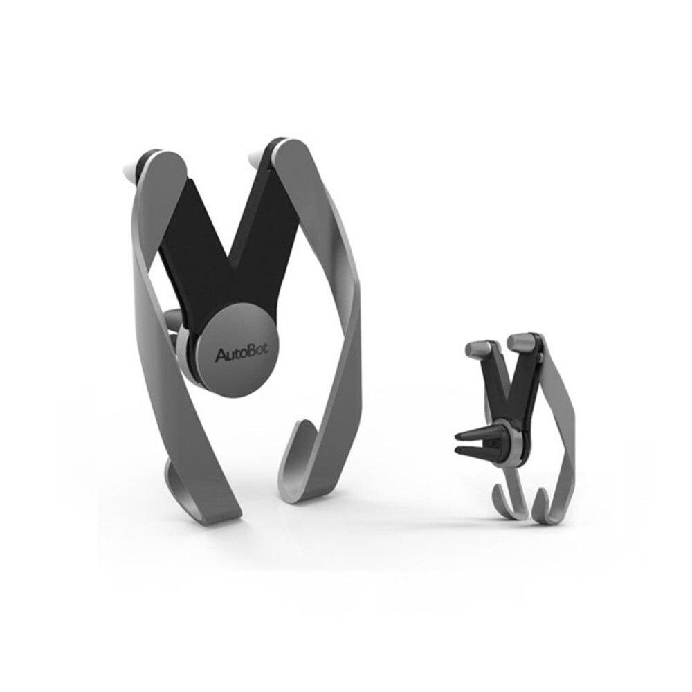 חדש הרובוטריקים אוניברסלי לרכב אוורור, בעל לעמוד הר עריסה ניידת טלפון נייד עבור iPhone 6 6 6 + 7 7plus Samsung huawei